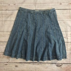 -Christopher & Banks- Jean Circle Skirt Light Wash